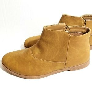 Tan Brown Ladies Ankle Boots Booties Neutral New